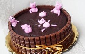 """Šokoladinis tortas """"Paršiukų rojus"""""""