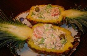 Egzotiškos salotos su vištiena
