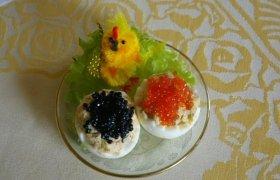 Kiaušiniai įdaryti lašiša