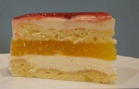 """Tortas """"Braškių ir persikų palaima"""""""
