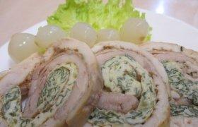 Švelnusis vištienos su  moliūgų  sėklomis vyniotinis