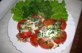 """""""Karališka"""" kiaušinienė su pomidorais vasaros pusryčiams"""