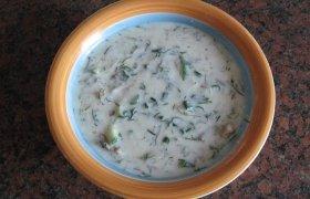 Šalta sriuba su silke