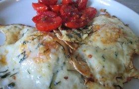 Kiaušinienė su čeri pomidoriukais