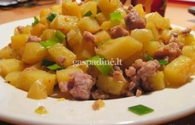 Keptos bulvės su malta mėsa