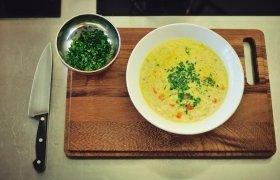 Maltos mėsos ir porų sriuba