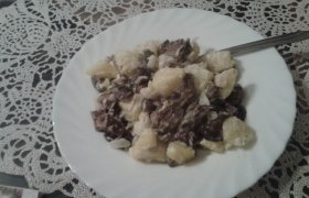 Bulvės su grybais
