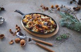 Bulvių apkepėlė su ZIGMO silke ir ančiuviais