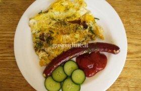 Kiaušinienė su dešrele
