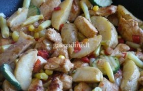 Vištiena su šaldytomis daržovėmis
