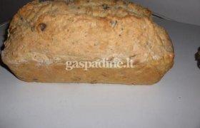 """Grūdėtoji duona """"Greitutė"""" Kūčių stalui"""