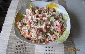 Krabų salotos arba kas yra šaldytuve
