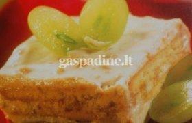 Chalvos pyragas iš sausainių