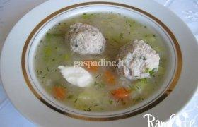 Dažovių sriuba su mėsos kukuliais (tiems kas skuba)