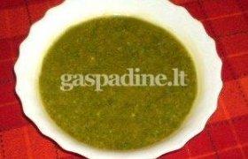 Trinta sriuba su špinatais ir krabų lazdelėmis
