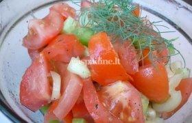 Super sveikos daržovių salotos veganams