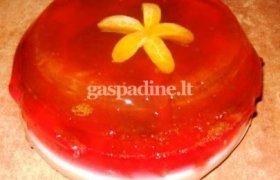 Želė tortas su vaisiais