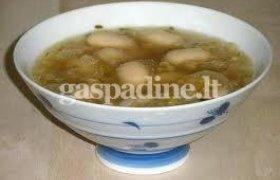 Pupelių sriuba su lęšiais