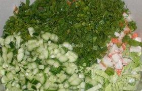 Pekino kopūsto salotos
