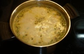Vištų širdelių sriuba