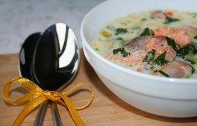 Sūrio sriuba su jūros gėrybėmis
