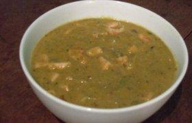 Kreminė pupelių sriuba su kleckais