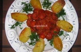 Dešrelės pomidorų padaže