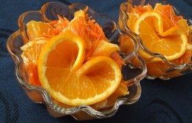 Apelsinų salotos su morkomis