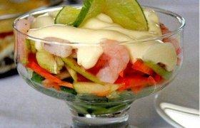 Salotos - kokteilis su krevetėmis