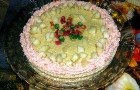 Vaflinis tortas su melionu