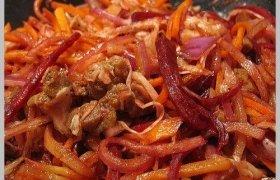 Prancūziškos salotos su mėsa