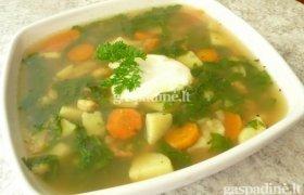 Špinatų ir krevečių sriuba
