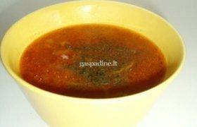 Aštri pomidorienė su ryžiais ir vištiena