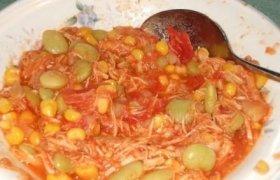 Tiršta sriuba su pupelėmis ir vištiena