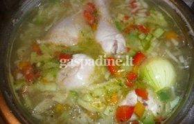 Paprikų ir vištienos sriuba