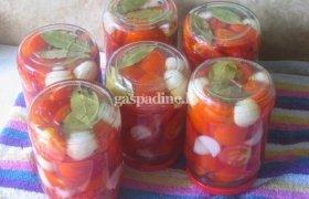 Žalių pomidorų koncervai žiemai