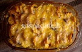 Bulvių ir vištienos faršo apkepas