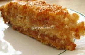 Kukurūzų košės pyragas su obuoliais