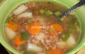 Vištienos sriuba su grikiais