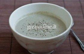 Pievagrybių sriuba su peletrūnu