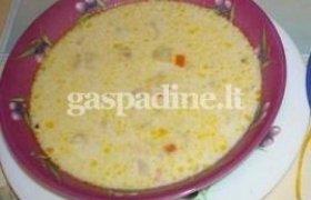 Sūrio sriuba su daržovėmis
