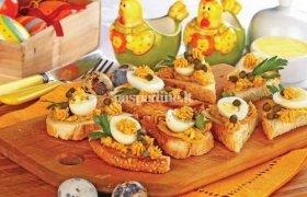 Putpelių kiaušinių užkandėlės