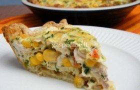 Vištienos ir kukurūzų pyragas