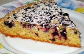 Mėlynių pyragas su riešutų sviestu