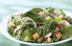 Špinatų ir pievagrybių salotos