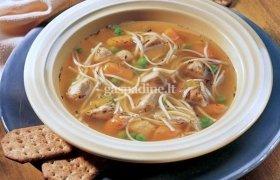 Vištienos sriuba su makaronais