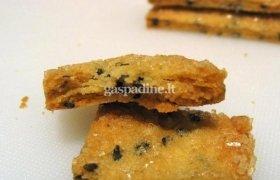 Juodųjų sezamo sėklų sausainiai