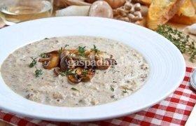 Pievagrybių ir žiedinio kopūsto sriuba