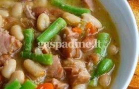 Kiaulienos kumpio ir pupelių sriuba