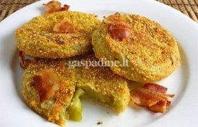 Apkepti marinuoti žalių pomidorų griežinėliai